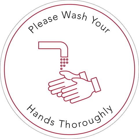 Health & Safety Hand Washing Mirror Cling