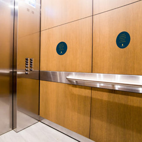 Social Distancing Elevator Interior Clings