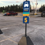 Curbside Pickup Parking Stall Marker Stand