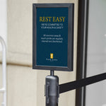 Stanchion Pedestal Sign