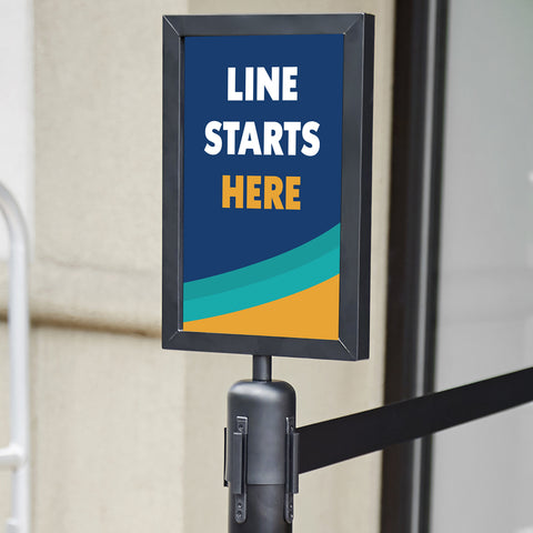 Line Starts Here Stanchion Sign
