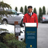 Valet Podium Sign