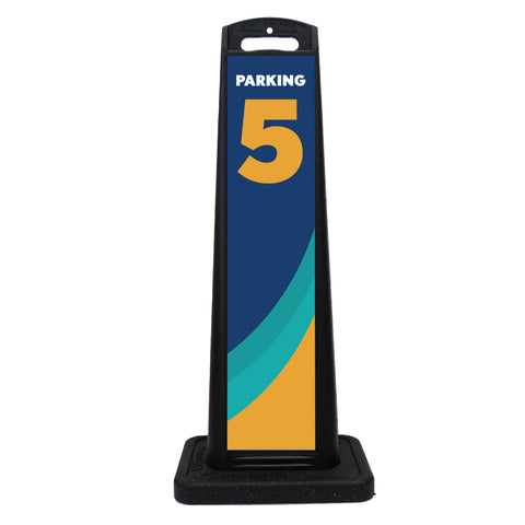 Curbside Pickup Quick Deploy Parking Space Decal #5 w/ Stand