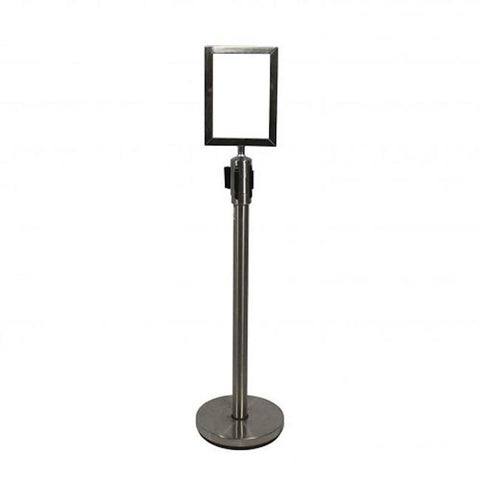 Stanchion w/ Sign Holder