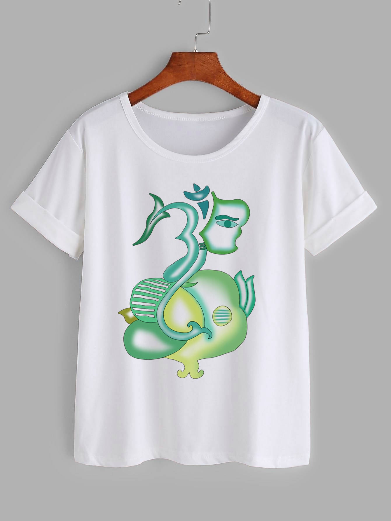 modernized Ganesha printed women's T-shirt