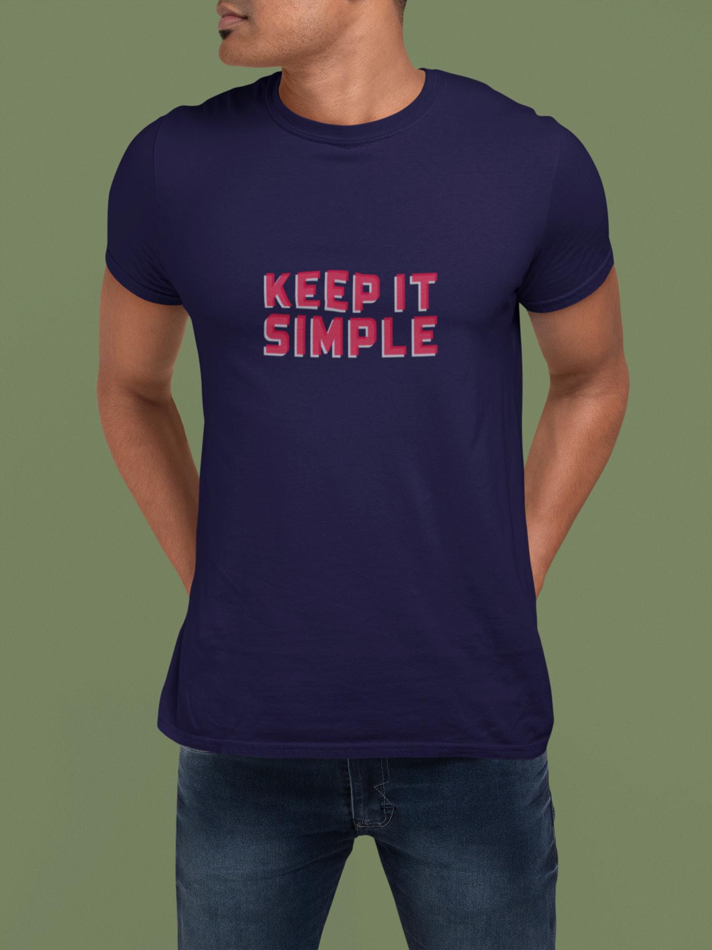 KEEP IT SIMPLE -Graphic T-shirt