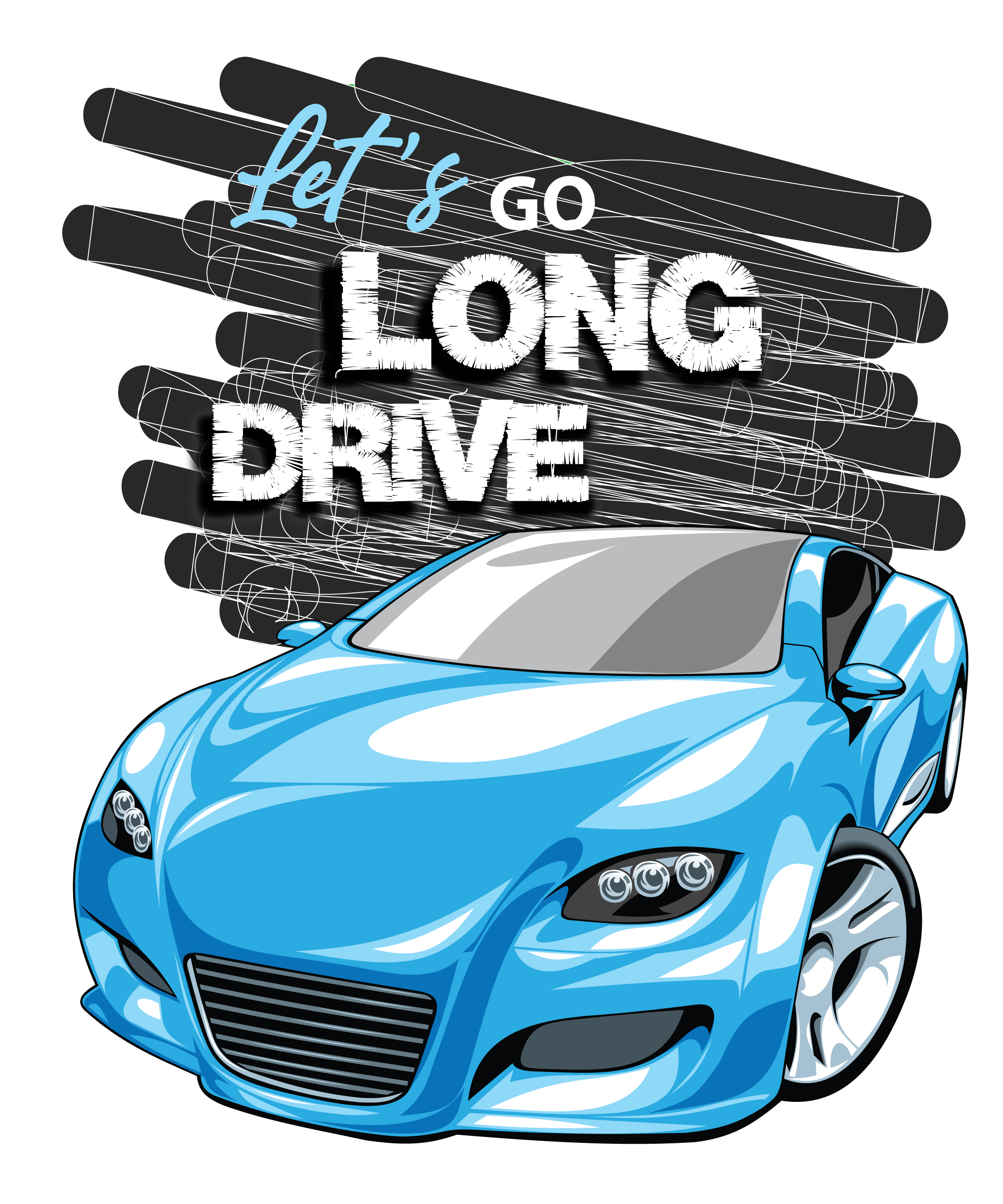 LET'S GO LONG DRIVE-Graphic T-shirt