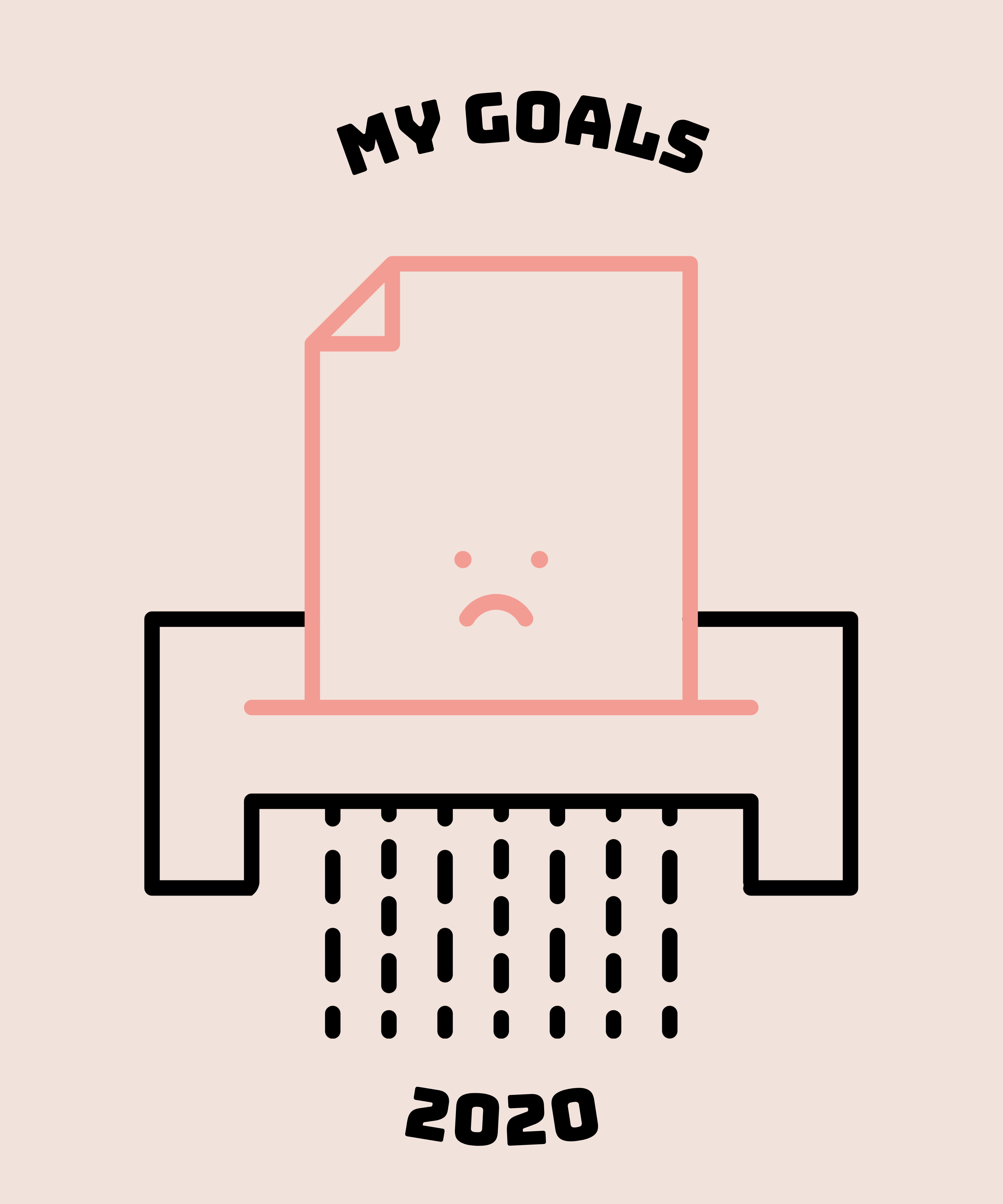 My Goals in 2020 - Graphic T-shirt