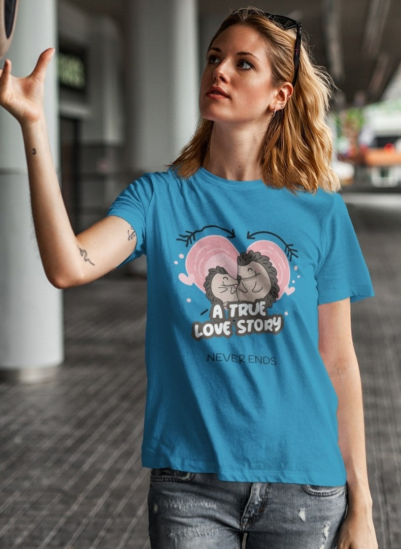 A True Love Story Printing T-shirt