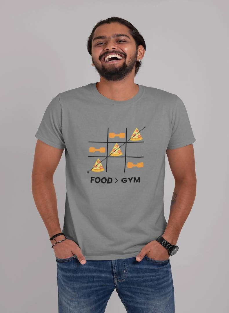 Food Gym Printed T-shirt -Delhi Craving