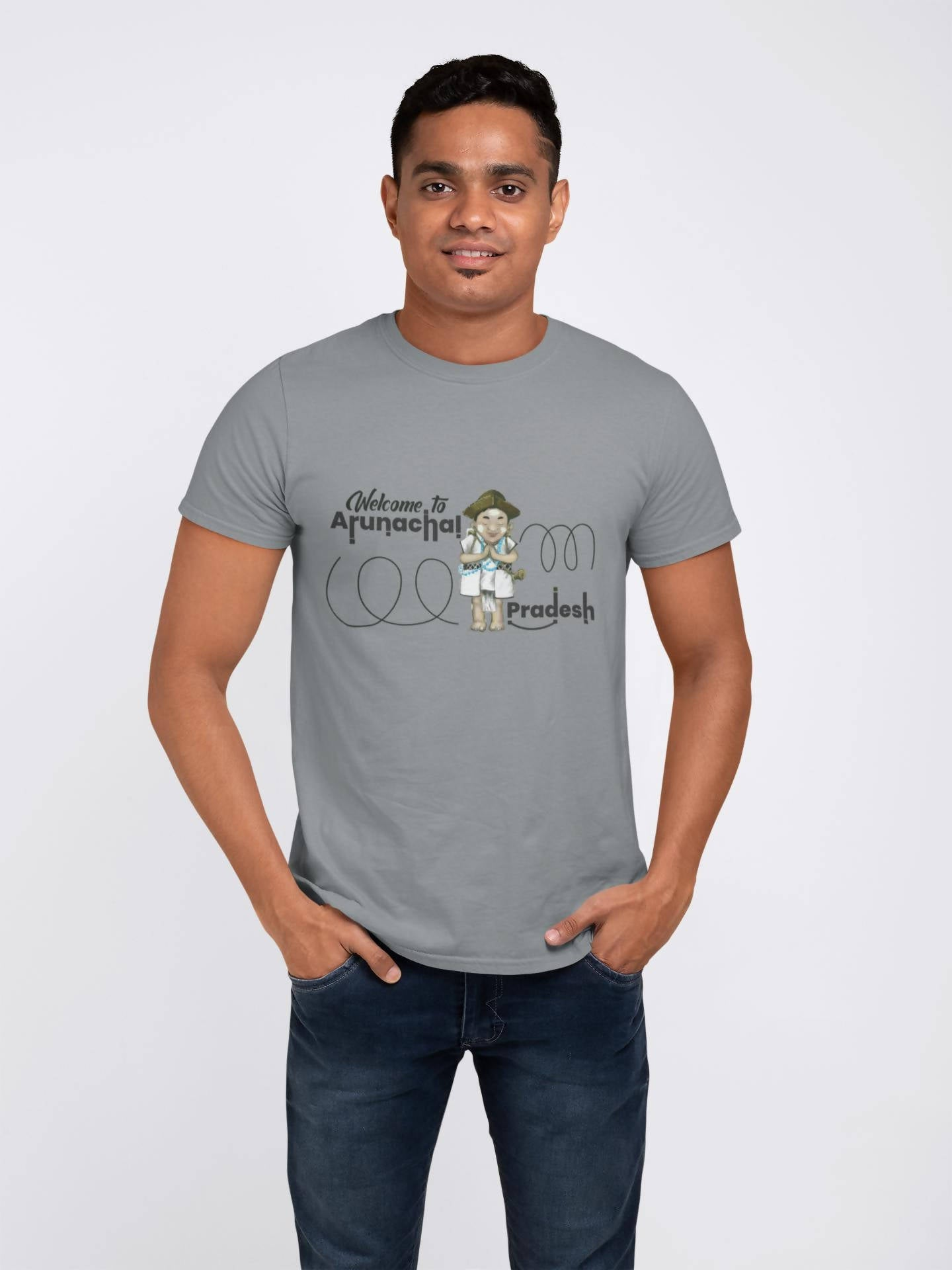 Welcome to arunachal pradesh Printed T-shirt -ItaMoto Fashions