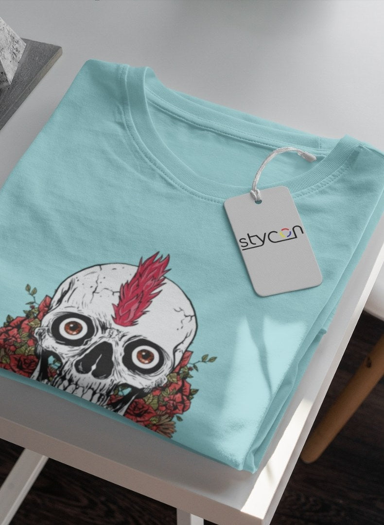 Death Graphic Women Round Neck T-shirt