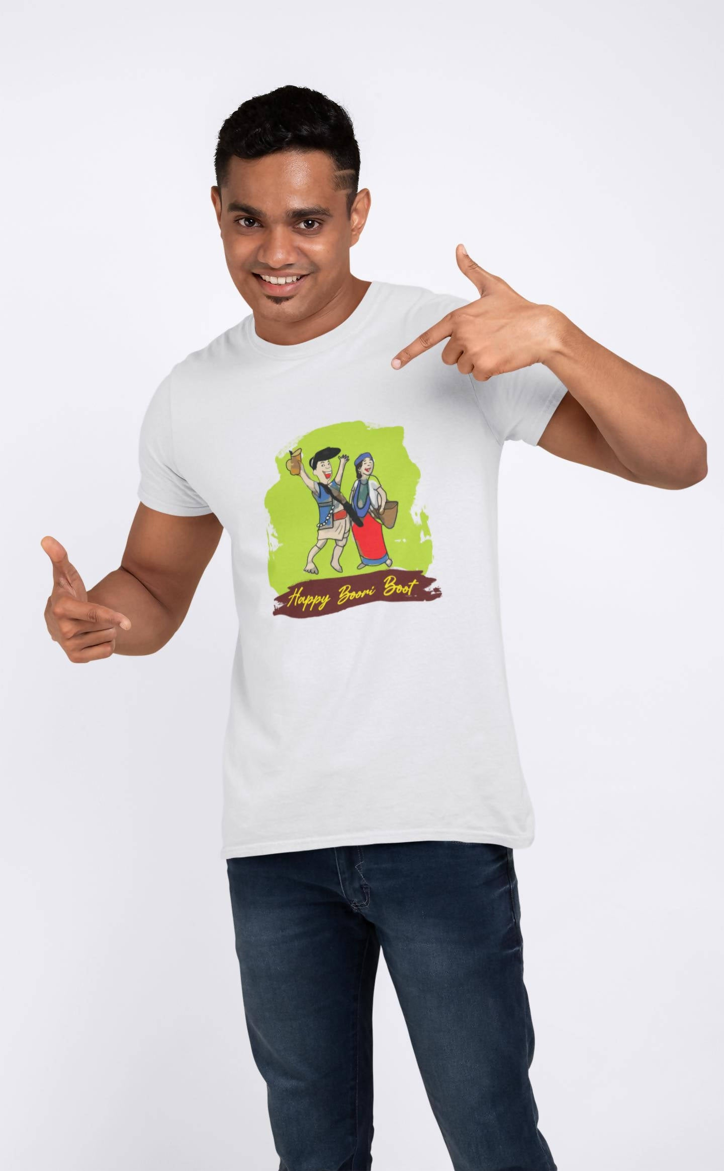 Happy Boori Boot Printed T-shirt -ItaMoto Fashions