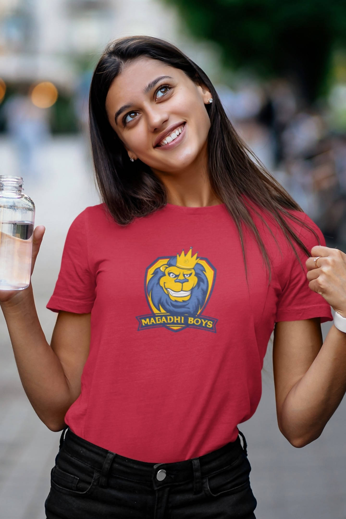 Women's Magadhi Boys Logo Printed T-shirt