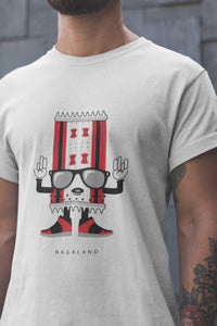 Nagaland - North East - White Round Neck T-Shirt - Stycon