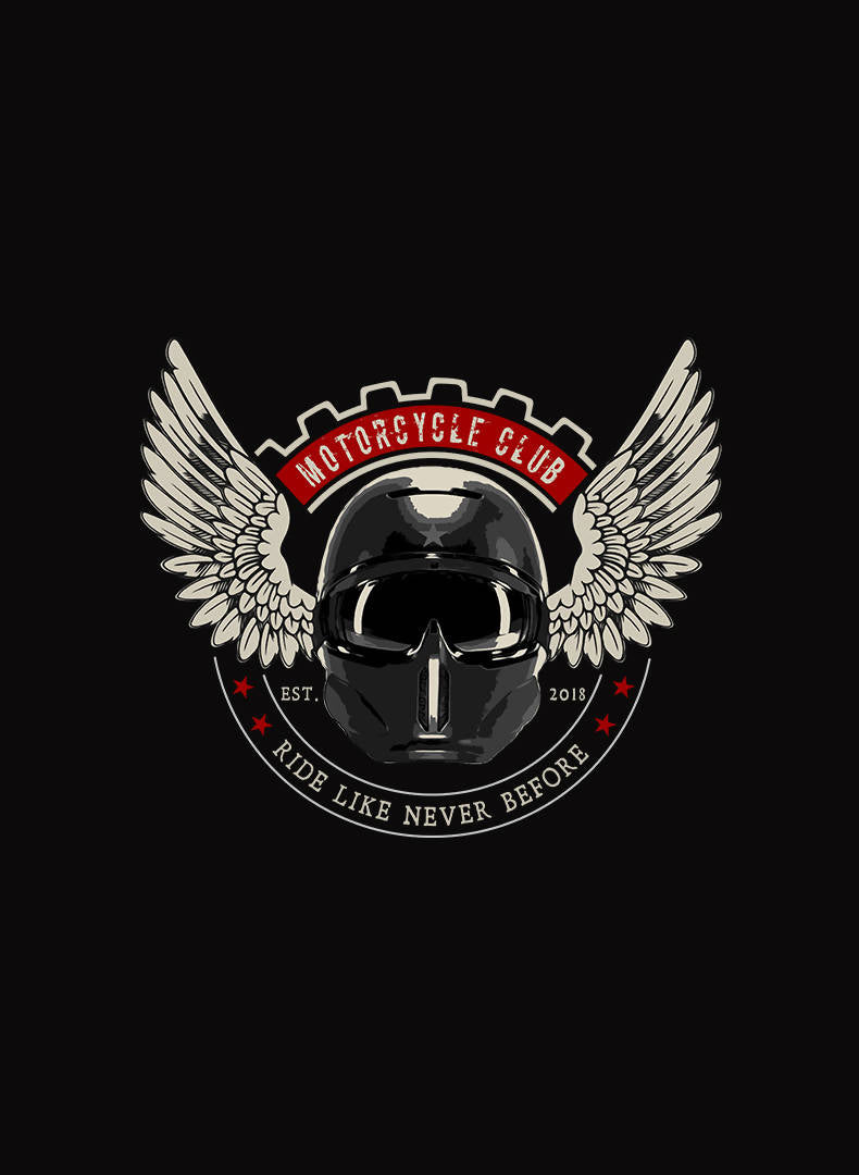 Motorcycle Club Printed T- Shirt- GFX Feed