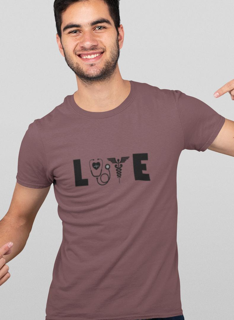 Love Printed T-shirt-Being Doctor