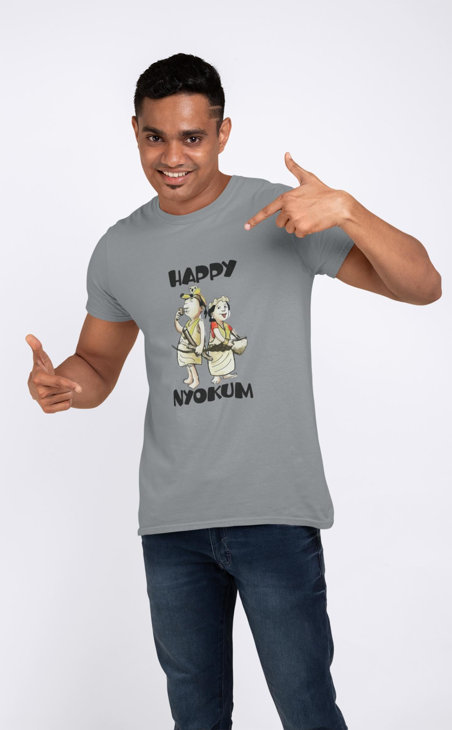 Happy nyoku Printed T-shirt ItaMoto Fashions