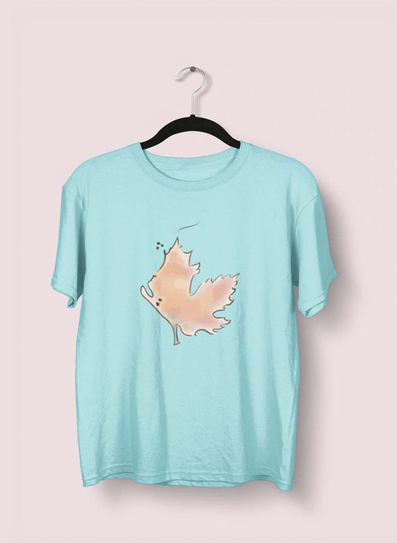 Leaves Printed T-shirt -Uzma