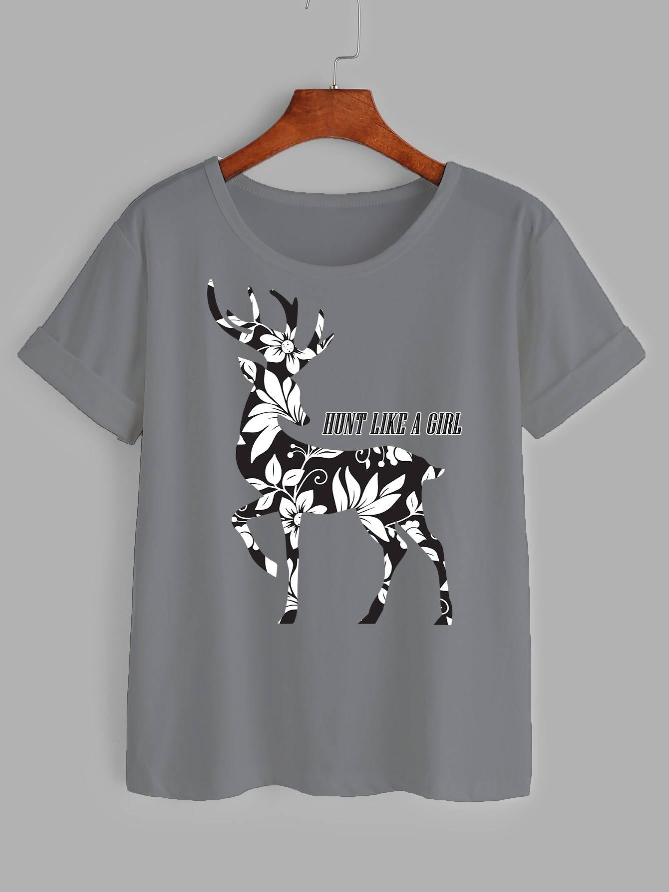 Deer printed women's T-shirt