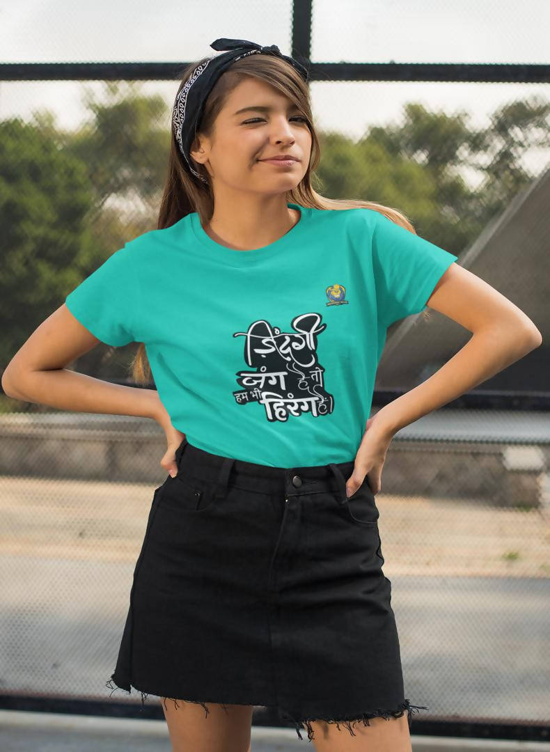 Zindagi Jung Hai Printed Women T-shirt-Magadhi Boys