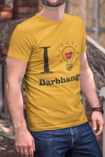 Darbhanga city I Love Darbhanga Round Neck Dark-color T-Shirt - Stycon