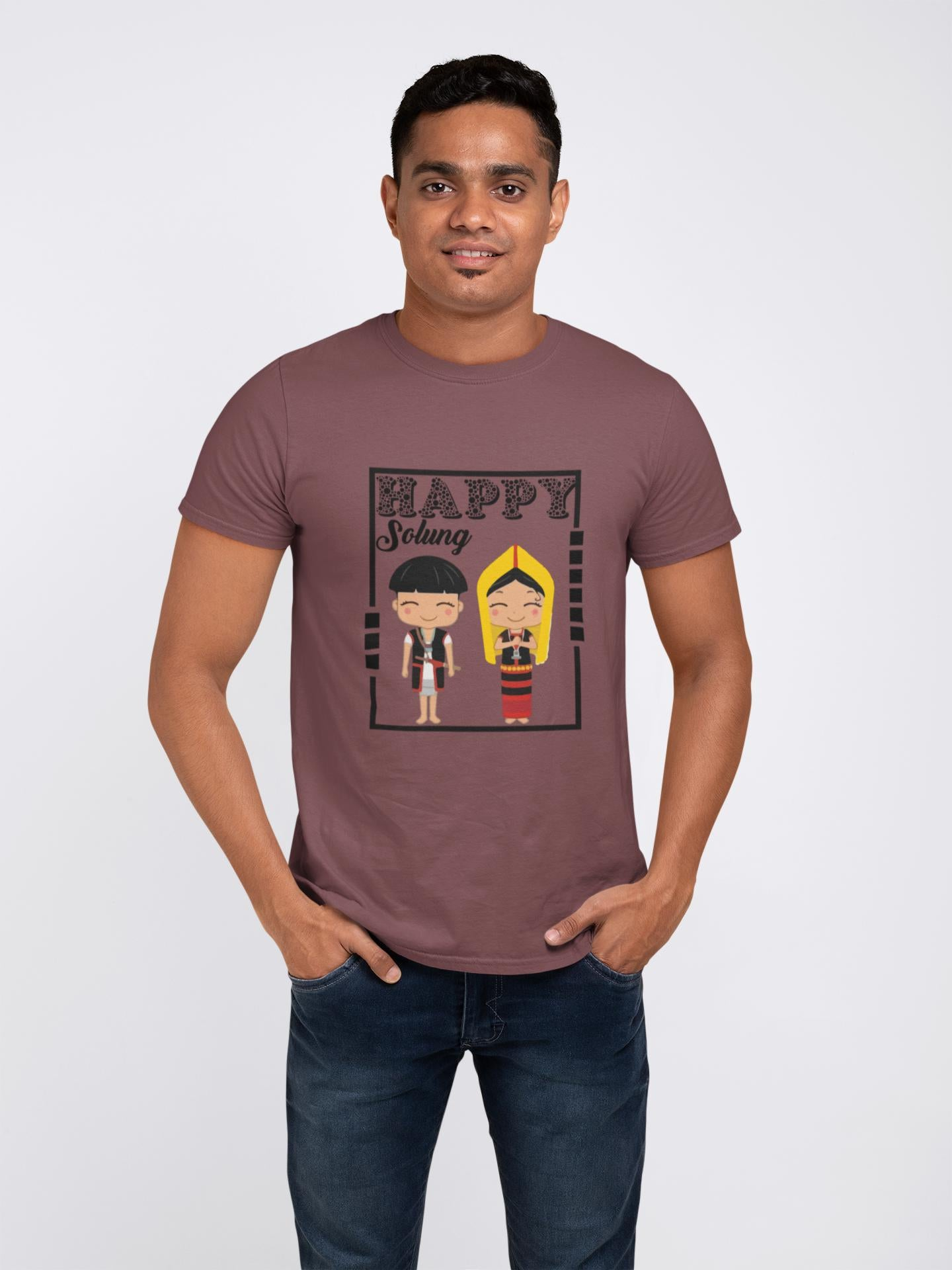 happy solung Printed T-shirt ItaMoto fashions