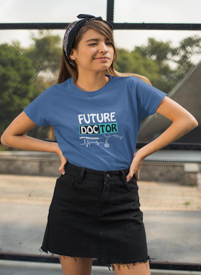 Future Doctor Printed Women T-shirt-Being Doctor