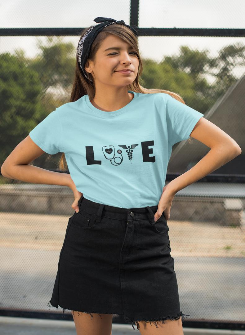 Love Printed Women T-shirt-Being Doctor