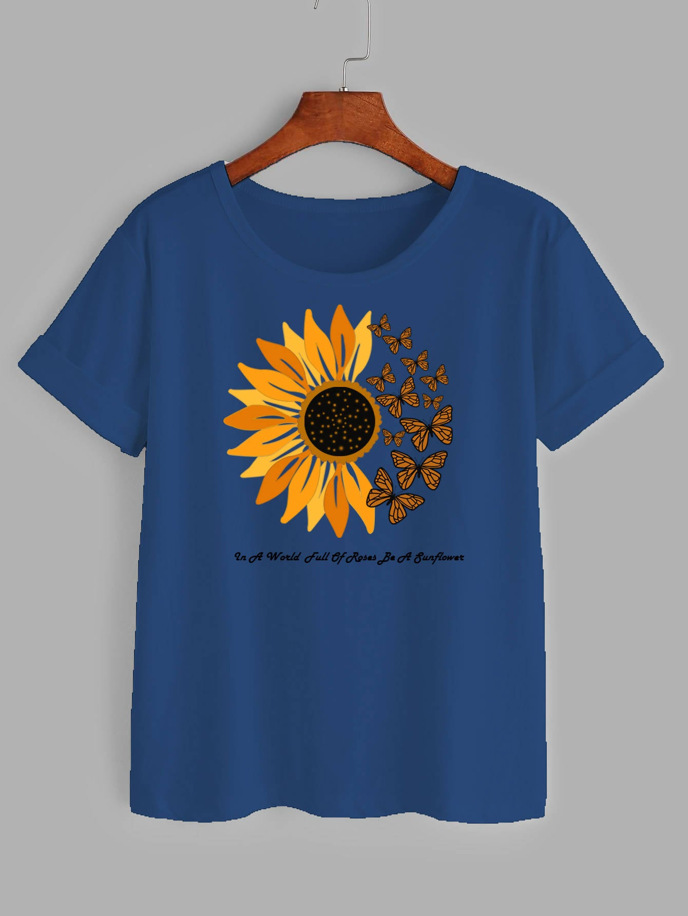 Sunflower printed Women t-shirt