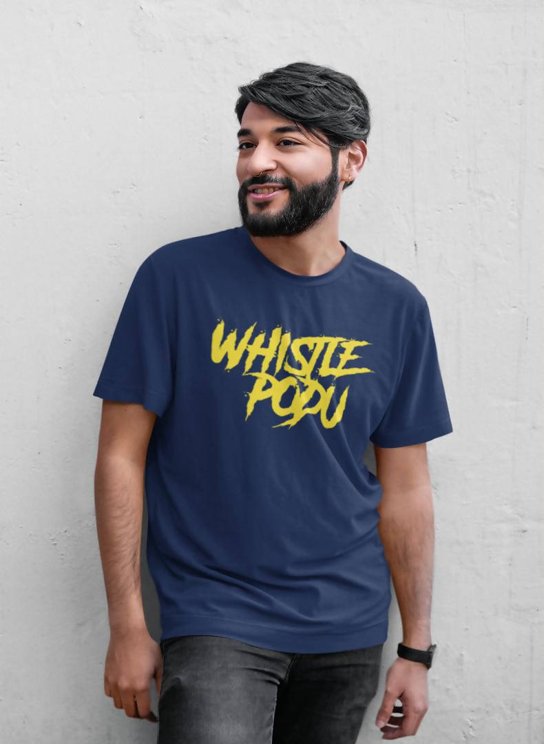 Whistle Podu Printed T-shirt -Cricket