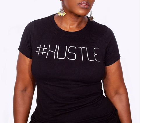 #Hustle Signature Logo Lady Tee