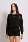 A STYLE Crop Sweater black - blogger and brands