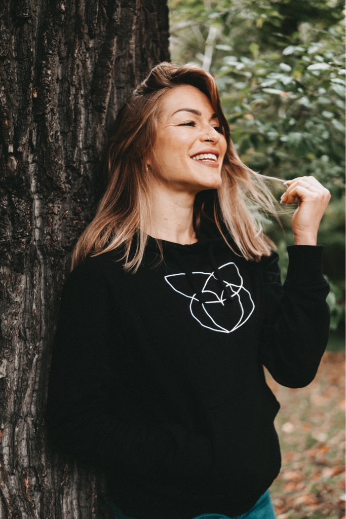 MRS.MARLISA Hoodie black - blogger and brands