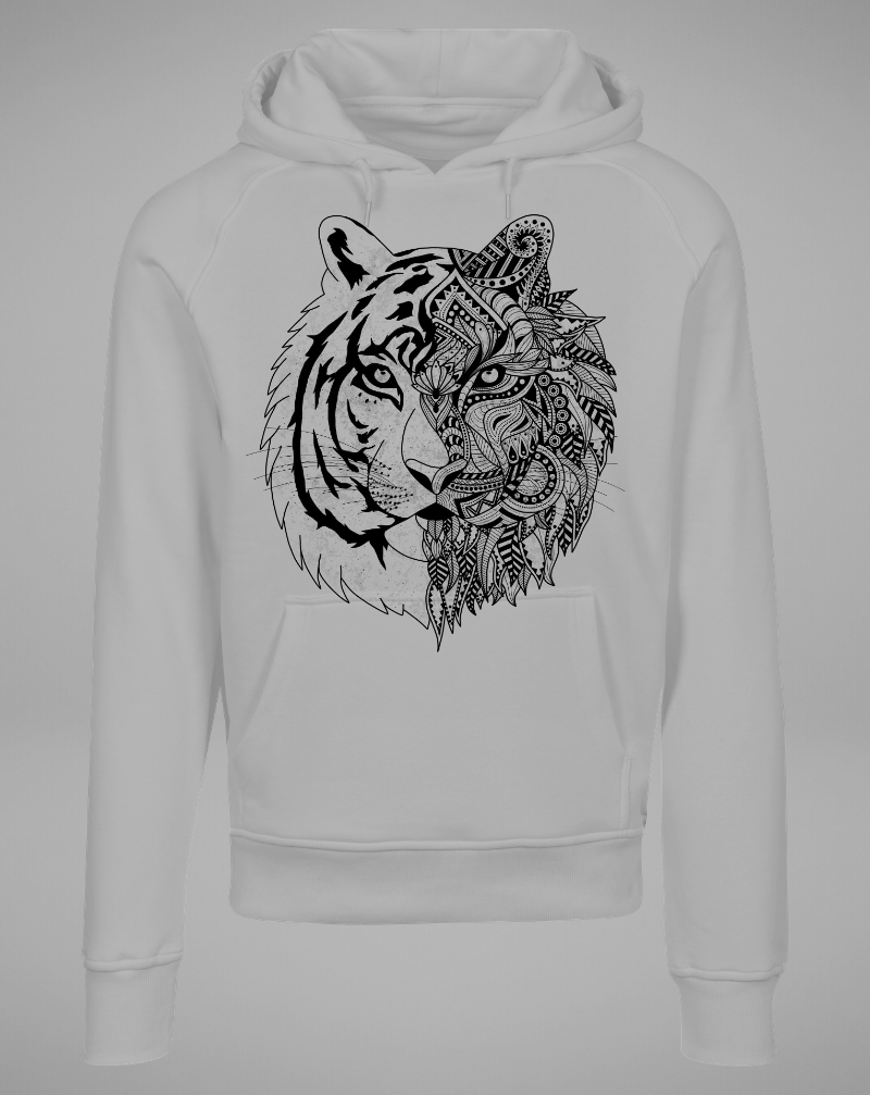 TIGER Hoodie - grey with black - blogger and brands