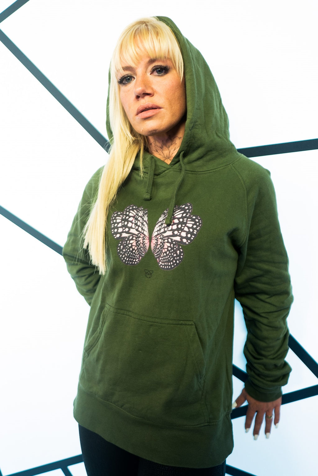 BUTTERFLY color Hoodie - military