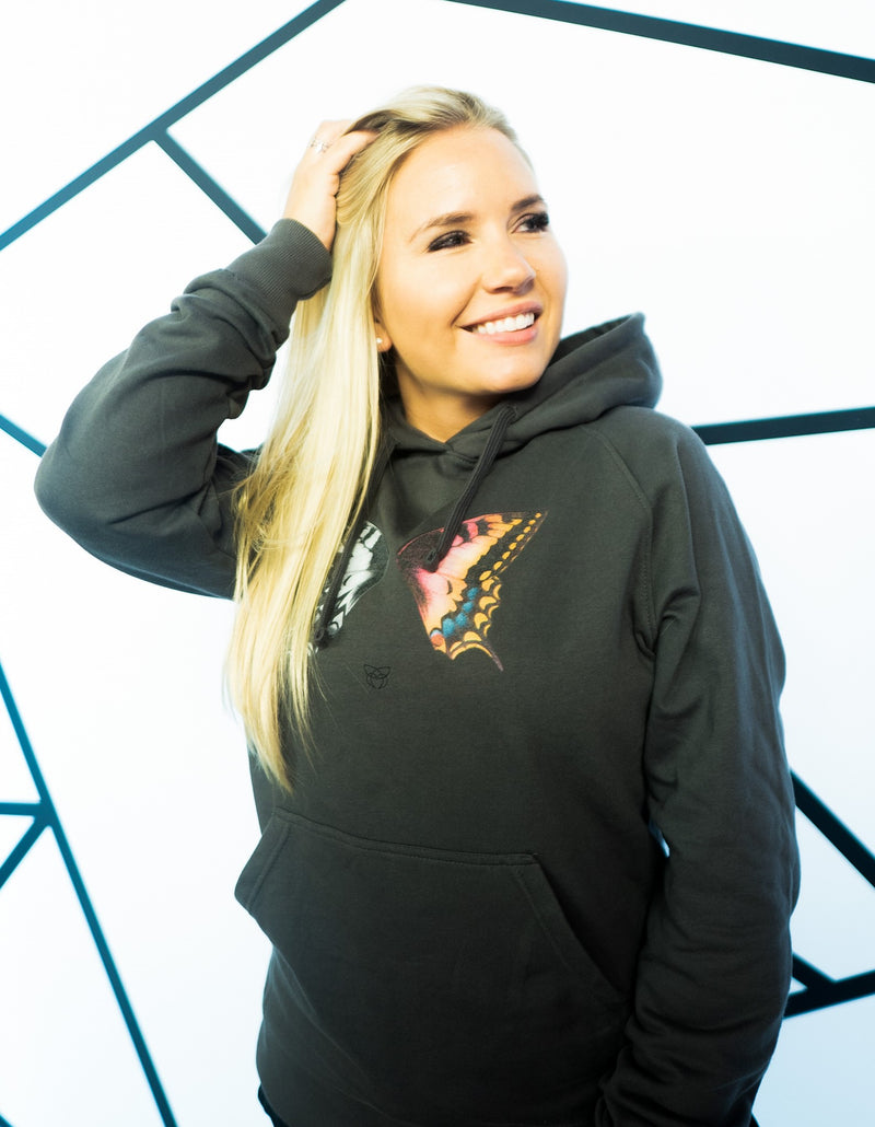 BUTTERFLY color Hoodie - grey - blogger and brands