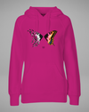BUTTERFLY color Hoodie - pink - blogger and brands
