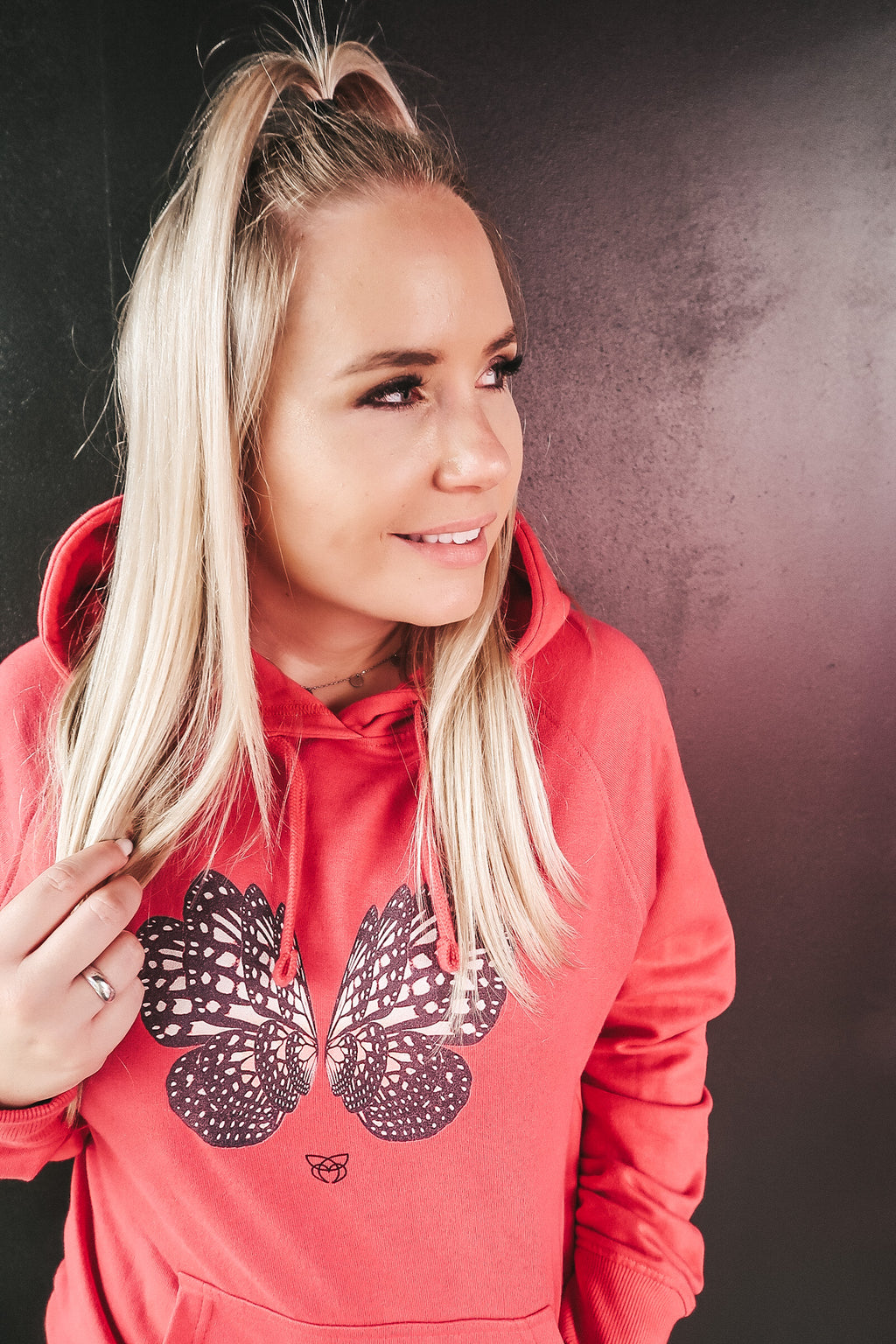 BUTTERFLY rosa Hoodie - pink