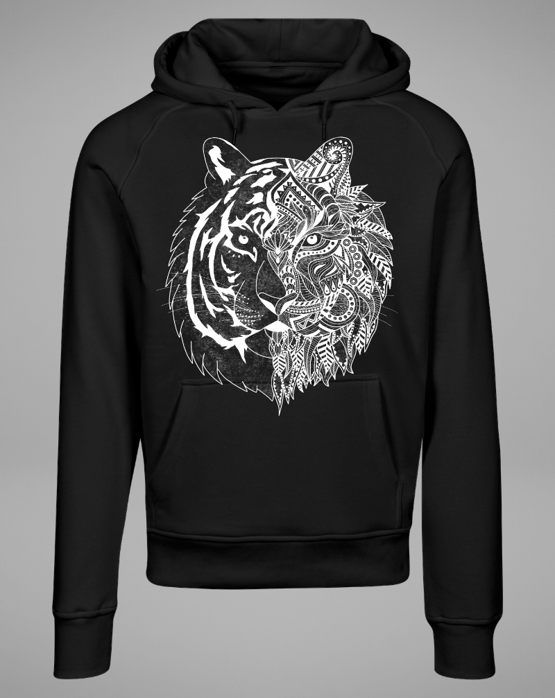 TIGER Hoodie - black - blogger and brands
