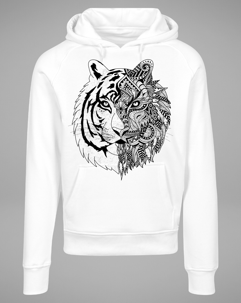 TIGER Hoodie - white - blogger and brands