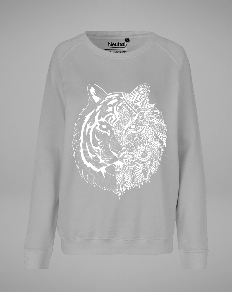 TIGER Sweater - grey with white - blogger and brands