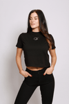 A STYLE Crop Shirt black - blogger and brands