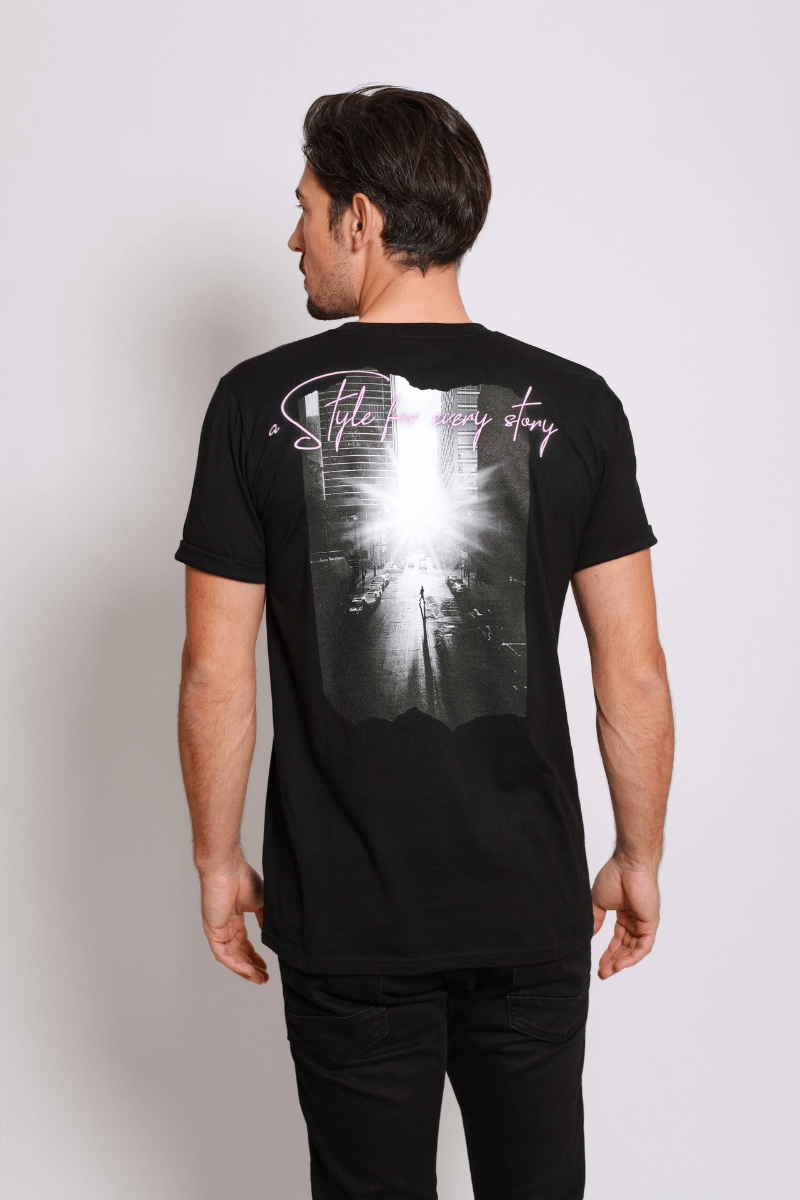 asfes BACKPRINT Shirt black - blogger and brands