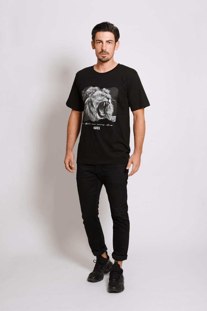 asfes LION Shirt black - blogger and brands