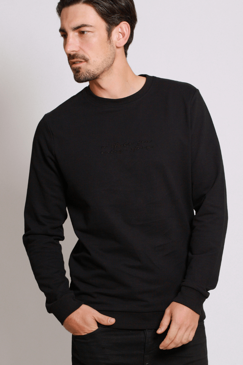 asfes Sweater black - blogger and brands