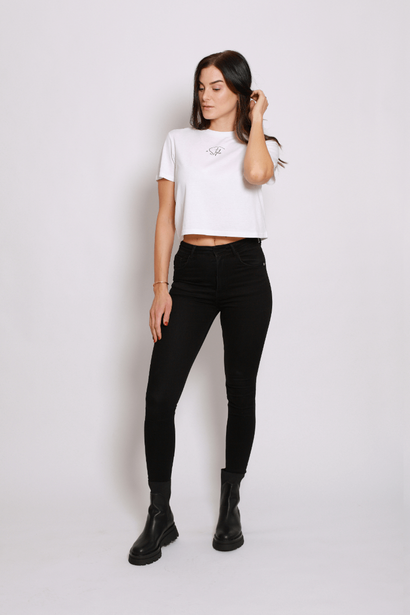 A STYLE Crop Shirt white - blogger and brands