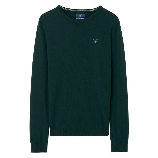 Superfine lambswool crew Genser