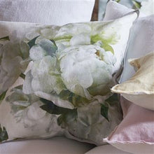 Load image into Gallery viewer, Peonia Chartreuse Floral Velvet Cushion