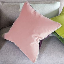 Load image into Gallery viewer, Varese Pale Rose Velvet Cushion, by Designers Guild